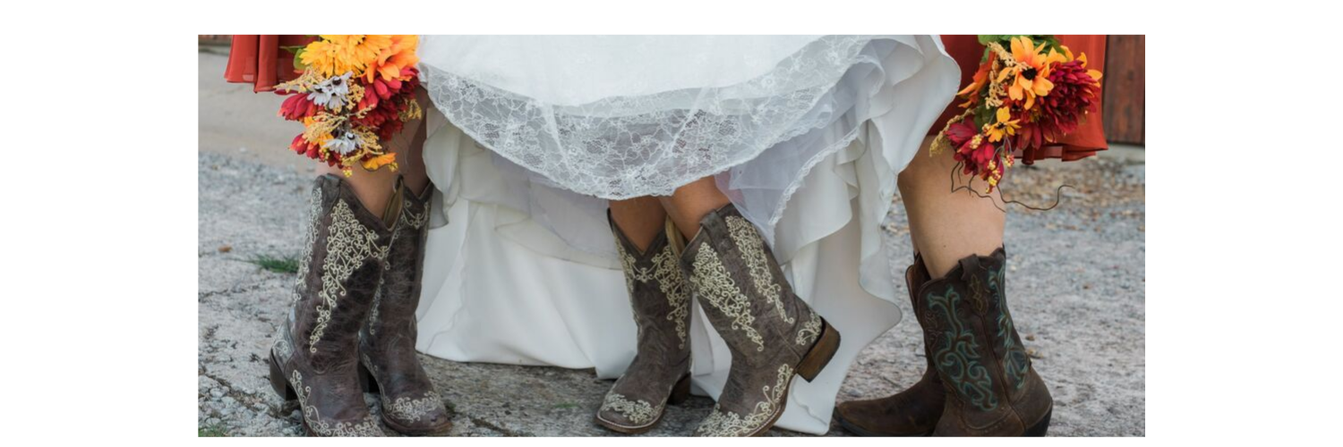 wedding party with cowgirl boots